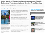 Fort Myers News-Press: Water Medic of Cape Coral employee named Florida Swimming Pool Association's Service Pro of the Year